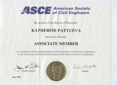 ASCE American Society od Civil Engeneers